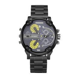 Wholesale Time Zone Wrist Watches - men watch Free shipping 2017 men's new brand quartz watch Fashion wrist watch D watches men 5.0CM stainless steel dial Double movement work