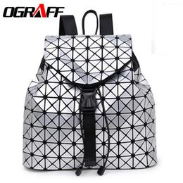 Wholesale American Girl School Backpack - Wholesale- OGRAFF Designer backpack women school bag 2017 backpacks for teenage girls famous brand leather backpack black high quality