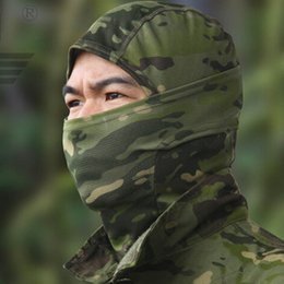 Wholesale Tactical Mask Military - 2017 Airsoft sports Tactical Balaclava Camouflage Hunting Paintball Riding Face Mask CS