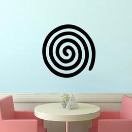 Wholesale Art Deco Vinyl Stickers - Hot Sale Team Logo Spiral Vinyl Wall Sticker Decal Art Deco Mural Bedroom Living Room Art Decor Mural