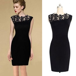 Wholesale hot pink pencil dress - S5Q 2017 New Hot Lace Bodycon Pencil Dress Sexy Women Stretch Cocktail Evening Clubwear Party AAADPO
