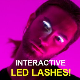 Wholesale Nightclub Led - False Eyelashes Luminous Eyes Party Nightclub Halloween LED Strips False Eyelash Sticker 3D LED Fake eyelashes C2548