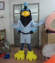 Wholesale Parrot Halloween Costume - High Quality Eagle Parrot Bird Mascot Costume Fancy Party Dress Halloween Costumes Adult Size free shipping