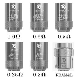 Wholesale Genuine Joyetech Wholesale - 100% Genuine Joyetech eGo Aio Coils BF SS316 0.6ohm 1.0 ohm 0.2 ohm 0.25ohm 0.5ohm BF RBA Coil Head Replacement for eGo Aio Kit