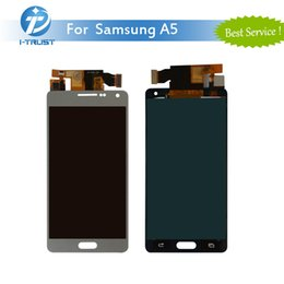 Wholesale Galaxy S3 New Screen Panel - Wholesale 100% New LCD Display For Samsung A5 Touch Screen Digitizer Color White&Silver Grey With Free DHL Shipping