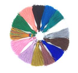 Colar de borra de seda on-line-JLN Tassel De Seda Charme Colar Brinco Descobertas Borlas DIY Para Fazer Jóias Acessórios