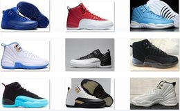 Wholesale mens leather army boots - Cheap 12 men basketball shoes 12s Wings Sports Shoes XII Master Mens Sneakers Athletics Boots