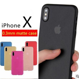 Wholesale Transparent Cellphone Cases - For iphoneX 0.3mm Ultra Thin Slim Matte Frosted PP Case Transparent Flexible cellphone Cases Cover for Samsung S8 note8 iphone X 8 7 6S plus