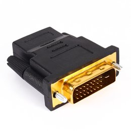 Cabo hdmi online-Chapado en oro DVI 24 + 1 HDMI Convierte el cable adaptador convertidor macho a hembra Cabo para HDTV LCD