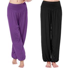 Wholesale Hot Woman Cargo Pants - Hot Sale Women Long Pants Harem Youga Modal Dancing Trouses Wide Belly Dance Comfy Boho Pants 16colors