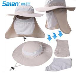 Wholesale Sun Protection Flap Hat - Fashion Summer Outdoor Sun Protection Fishing Cap Neck Face Flap Hat Wide Brim