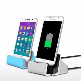 Wholesale Iphone Cradle Stand Charger - Quick Charger Docking Stand Station Cradle Charging Sync Dock With Retail Box For Type-c iPhone 6 7 Plus For Samsung S6 S7 S8 edge Note 5