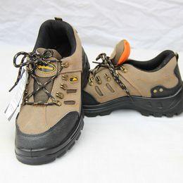 Wholesale Anti Puncture - Men Boots suede Cowhide Work Shoes Safety Protective Shoe Anti smashing Anti puncture Ventilation Oil resistance Acid alkali resistance
