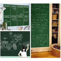 Wholesale Green Wall Board - Hot Sale 45x200cm Removable Blackboard Stickers Chalkboard Wall Sticker Chalk Board Wall Paper Art Mural Decals Chalk Board Paper Lable