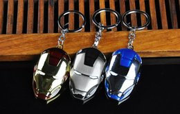 Wholesale Union Ball - Free shipping Hot Deal Avenger Union Iron Man Car Keychain Alloy Birthday Gift Key Chain KR058 Keychains mix order 20 pieces a lot