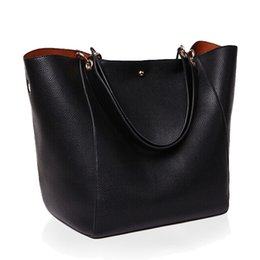 Wholesale Dark Green Leather Handbag - Luxury Women Handbag Famous Brand Shoulder Bags Solid Designer Handbags High Quality Ladies Hand Bags Women Tote Big Female Bag BLB034