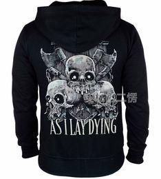 Wholesale Heavy Fleece Jacket - Wholesale- 11 designs As I Lay Dying Rock Cotton Sweatshirt hoodies fleece jacket brand punk death heavy metal Skull axe sudadera tracksuit