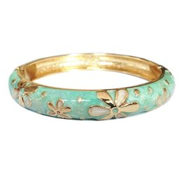 Wholesale enamel metal ring - cute Flower style Elegant Bangles Women metal Accessories Fashion Jewelry many Colour Valentine Day Gifts L062