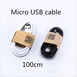 Wholesale Galaxy S4 Mobiles - Hot selling V8 Samsung Cable Micro USB Cable Mobile Phone Charging Cables 100cm CD3.4 Data sync USB Cable galaxy s4 note4 Data