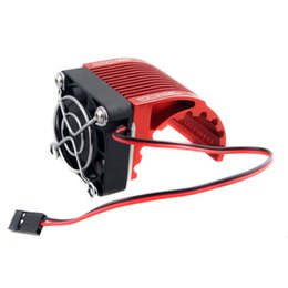 Wholesale Cool Electric Cars - RC HSP Red 42mm Alum Heat Sink DC5V Fan Cooling For Engine Motor 4274 4268 1515
