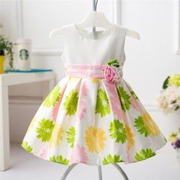 Wholesale Original Baby Clothes - Baby dress foreign trade original single children 's clothing princess skirt children hundred days full moon clothes dress
