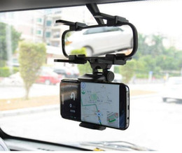 Wholesale Iphone Rearview Mirror Mount - For Iphone 7 Car Mount Car Holder Universal Rearview Mirror Holder Cell Phone GPS holder Stand Cradle Auto Truck Mirror With Retail Package