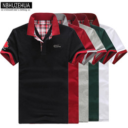 Wholesale Cheap Casual Men Shirts - Plus Size 3xl Polo Shirt Men Short Sleeve Fashion Cheap Mens Polos 2017 summer Casual White Black Male Polo Shirts wear