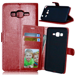 Wholesale Denim Phone Cases - Case For Samsung Galaxy Grand Prime G530 SM-G530F SM-G530H Denim Leather Case Flip Phone Cover For G531 SM-G531H SM-G531F para