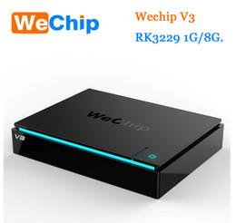 Wholesale Tv Box V3 - WeChip V3 Android 6.0 TV BOX RK3229 Quad-core frequency:2.0G 1GB 8GB 2.4G Smart Tv Box Media Player