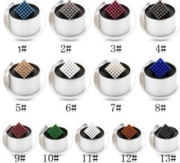 Wholesale Plastic Cube Beads - DHL free Magnetic Beads 3mm Colorful Shapable Magic Cube Magnets Puzzle Fidget Toys High quality Anti Stress Cube Kids' Gift with Metal Box