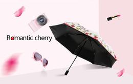 Wholesale Vinyl Coat Black - 2017 2 color praduct Creative roses not automatic folding the vinyl umbrella uv sunscreen female thirty percent of sunny or rainy