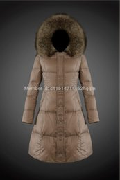 Wholesale Goose Down Parka Women - 2017 New top quality Fashion Winter Jacket Fur Hooded Zipper Long Women Warm Down Coat 4 Colors Winter Parkas Coat Lady Down Jacket