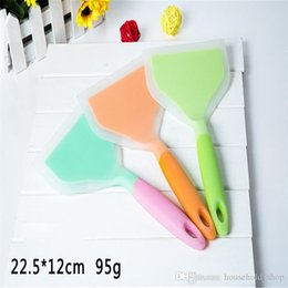 Wholesale Pizza Pans - Eco friendly Silicone Pizza Shovel Kitchen Utensils Non-stick Pan Special High Temperature Silicone Shovel 3 Colorscooking tools