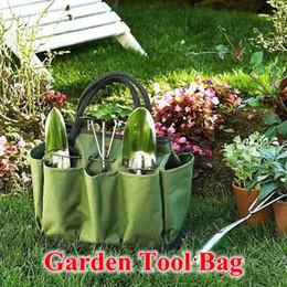 Wholesale Green Garden Tools - Garden Tool Bag Hot Sale Multi Popose Oxford Garden Tool Set Storage Gardening Tote Bag Kit Carry Organizer CCA8162 10pcs