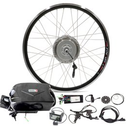 Wholesale Electric Wheels Kit - 2016 Front Wheel Electric Bicycle Conversion Kit E-Bike Conversion Kit Bicycle Electric Motor Kit With Battery Kit Bicicleta Electrica