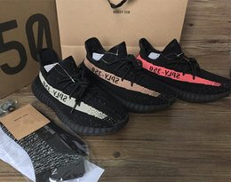 Wholesale Gift Boxes Shoes - 8 colors size 5-13 kanye west shoes SPLY 350 boost 350 v2 Beluga Glow In The Dark copper red Running Shoes with Gift