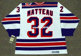Wholesale 1994 New York Rangers - Cheap custom retro STEPHANE MATTEAU New York Rangers 1994 CCM Vintage Home Jerseys Throwback Mens stitched Hockey Jersey