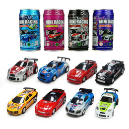 Wholesale Remote Control Racers - New Free Shiping Epacket 8 color Mini-Racer Remote Control Car Toy Coke Can Mini RC Radio Remote Control Micro Racing 1:64 Car 8803