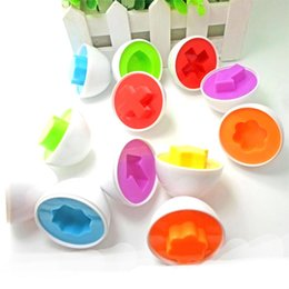 Wholesale 3d Egg Puzzle - Wholesale- 6pcs set Simulation Egg Puzzle Clever Eggs Kid's Toy Gift Baby Children Games Learning Education Toys