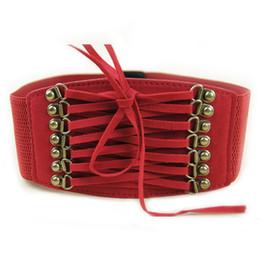 Wholesale Tassel Womens Belt - Wholesale- Oioninos Fashion Women Belts Trench Velvet Retro Rivet Tassel Wide Cummerbund Strap Belt Waist Female Womens Accessories