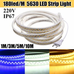 Wholesale Hotel Advertisements - Newest 110V 220V LED Tape 5630 SMD Diode 180led m Xmas Home Hotel Decor High-end 5730 Strip Light Waterproof 20m 50m 100m