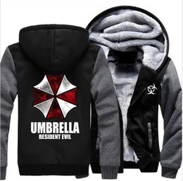 Wholesale Umbrella Sleeves - Wholesale new fashion Anime Resident Evil umbrella Hooded hoodies sweatshirt