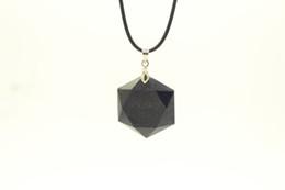 Wholesale Gem Stars - 100% Handmade Hexagram Blue Sand Quartz Gems stone Necklace Fashion crystal necklace Wedding jewelry Star of David