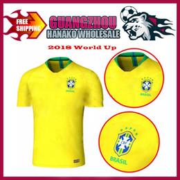 43c10be16 Brazil 2018 World Cup jersey Coutinho Jesus Neymar Jr soccer jerseys Oscar  PAULINHO Marcelo Casemiro Brasil National Team Football Shirt AAA