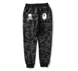 Wholesale Cotton Polyester Pants Men - Wholesale Tide Brand Shark Camouflage Ankle Banded Jogging Thin Men And Women Pure Cotton Pants Sweatpants Joggers
