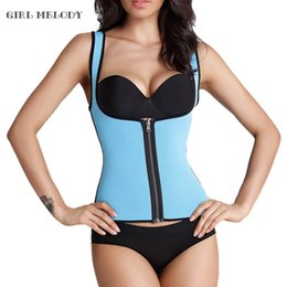 Wholesale Under Waist Corset - Wholesale- Hot Zipper Waist Trainer For Women Waist Cincher Body Shaper Slimming Belt Waist Shaper Corsets Whoelsale Under Bust Vest
