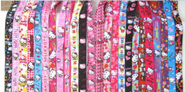 Wholesale character kitty - Wholesale 50pcs Random Mix Cartoon Character kitty Cat Neck Lanyard Straps for MP3 4 cell phone DS lite Free shipping