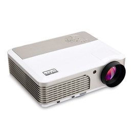 Wholesale hdmi technology - Wholesale-Wifi android4.2 HD Projector Full Color LCD Panel LED Technology 4000 Lumens Multimedia Beamer Home Proyector for Game TV Cinema