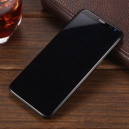 "Wholesale Mini Camera 3g - Goophone S8 5.8"" Real Fingerprint MTK6580 Quad Core Android 7.0 ROM 8GB Ram 1GB Full Curve Screen 3G Show 128GB 4g lte Cellphones Unlocked"