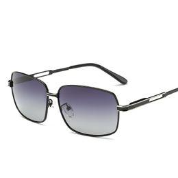 Wholesale Frameless Glass Hinges - Wholesale- Retro Men's Eyewear Accessories Driving Polarized Sunglasses Men Sun Glasses Alloy Shades Spring Hinge Lunettes De Soleil Homme